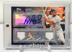 1/1 Albert Pujols 2007 Topps Sterling 4 Pieces Game Used Auto Autograph 10/10 SP