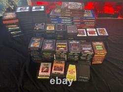 145 game lot atari & intellivision video game lot atari 2600 atari 5200