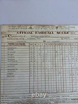 1940 Final Pitch Game Used Baseball One Of Longest Games In History Cot Deal