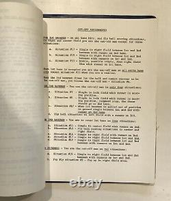 1965 Chicago Cubs Game Used Baseball Defensive System Playbook Super Rare