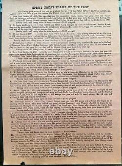 1965 Release (1964 stats) APBA Baseball Set Original Box All 400 Player Cards