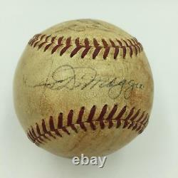 1967 Joe Dimaggio & Reggie Jackson Rookie Signed Game Used AL Baseball JSA COA