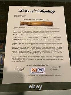 1969-70 Roberto Clemente Pittsburgh Pirates Game Bat Un Used Baseball Psa Nice