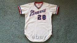 1981 Atlanta Braves Mike Lum (Hawaii) Game Used Worn Baseball Jersey