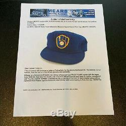 1983 Robin Yount Signed Game Used Milwaukee Brewers Baseball Hat Mears & JSA COA