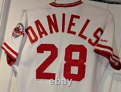1988 Kal Daniels Cincinnati Reds game used home jersey- All Star patch