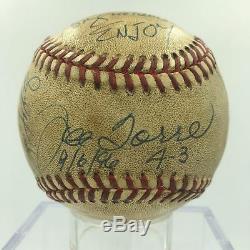 1996 NY Yankees Team Signed Game Used Baseball Derek Jeter Mariano Rivera JSA