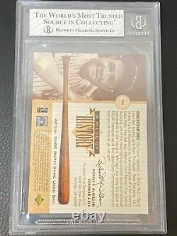 1999 Upper Deck Piece of History Babe Ruth Game Used Bat BGS 8