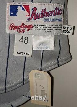2000 Matt Walbeck Anaheim Angels game used/worn jersey 40th anniversary patch