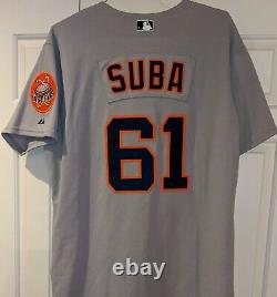 2002 Stretch Suba Houston Astros game used Turn Back the Clock (to 1970) jersey