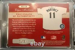 2003 Timeless treasures Edgar Martinez MLB Logo Game Used Auto 1/1 Mariners