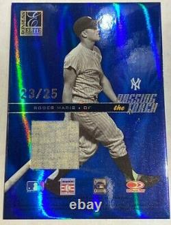 2004 Babe Ruth Game used Jersey Roger Maris Donruss Passing the torch 23/25