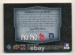 2008 UD Premier RUTH GEHRIG MUSIAL COBB Quad Game Used Relic #21/25