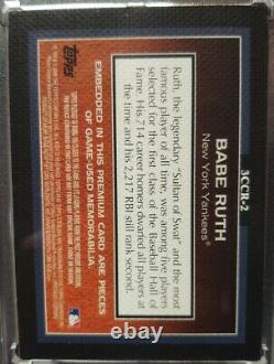 2009 Topps Sterling Babe Ruth Dual Pinstripe Game Used Jersey Relic /25 Yankees