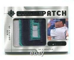 2009 Ultimate Collection KEN GRIFFEY JR Game Jersey Name Logo Patch #d 34/35