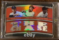 2010 Topps Triple Threads Mickey Mantle Babe Ruth Roger Maris Game Used Jsy MINT