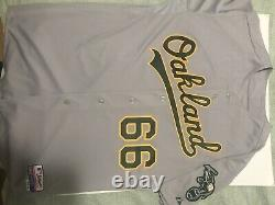 2011 Oakland Athletics Tyson Ross #66 Game Used Grey Jersey MLB Authentication