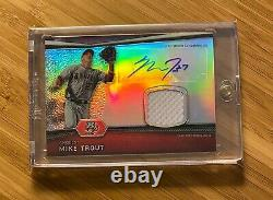2012 Topps Bowman Platinum Autograph Relic Game-Used MIKE TROUT Rookie Auto