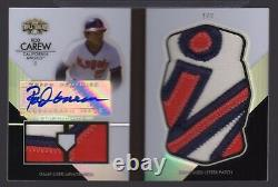 2012 Triple Threads Rod Carew Auto Game Used Letter Patch Booklet #1/3 Angels