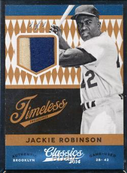 2014 Classics Timeless Treasures Jackie Robinson Game Used Jersey Patch 1/1