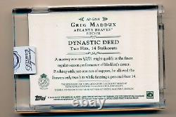 2015 Topps Dynasty GREG MADDUX On Card Auto Game Used LOGO Patch #5/5