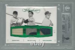 2016 Flawless Ted Williams Dom Dimaggio Jimmie Foxx Red Sox Game Used Patch Bgs