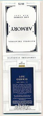 2016 National Treasures LOU GEHRIG 6X Game Used Relic Booklet ARMORY #8/25