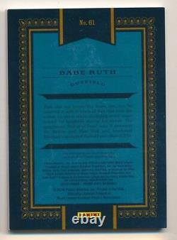 2016 Prime Cuts BABE RUTH Game Used Material Relic #2/3