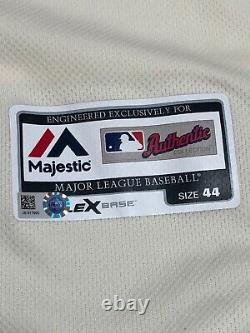 2016 Seattle Mariners Game Used Worn Cream Nostalgia Jersey MLB Hologram #66