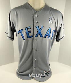 2016 Texas Rangers Cesar Ramos #55 Game Used Grey Fathers Day Jersey DP01165