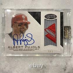 2016 Topps Dynasty Albert Pujols Game Used Jersey Auto 1/1 Majestic Patch