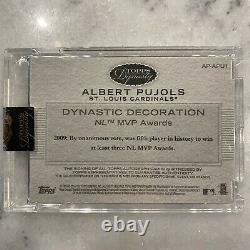 2016 Topps Dynasty Albert Pujols Game Used Jersey Auto 5/5 Bird and Bat Patch