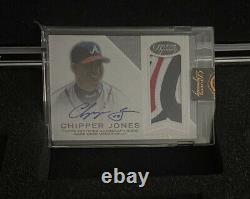 2016 Topps Dynasty Game Used Jersey Auto Chipper Jones 4/5 Atlanta Braves Logo