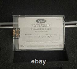 2016 Topps Dynasty Game Used Jersey Auto Craig Biggio 2/5 Rare Astros Star