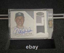 2016 Topps Dynasty Game Used Jersey Auto Derek Jeter 3/5 New York Yankees Stripe