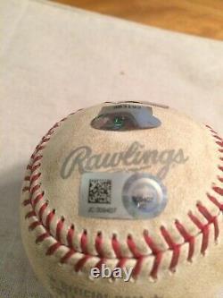 2017 Champion Houston Astros Alcs Game Used Ball Game 5 @ Yankee Stadium