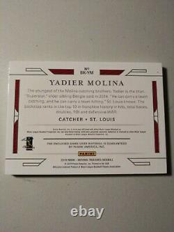 2019 National Treasures YADIER MOLINA Game Used Bat Knob #1/1 Cardinals