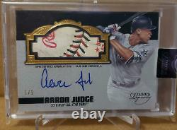 2019 Topps Dynasty Aaron Judge Game Used All Star Game Ball Relic Auto #/5 Nyy