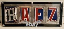 2020 Javier Baez Jumbo Jersey Letter Patch In The Name Sterling Game Used 1/1