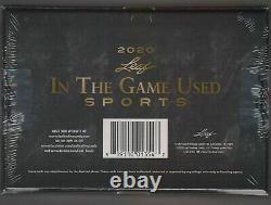 2020 Leaf In The Game Used Sports Sealed Hobby Box 5 Premium Hits Auto/Mem