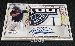 2020 Leaf Trinity Baseball JASSON DOMINGUEZ AUTO & AMAZING GAME PATCH #PA-JD1