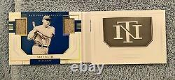 2020 National Treasures Ruth, Gehrig, DiMaggio Game Used Materials Booklet 01/10