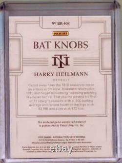 2020 Panini National Treasures Harry Heilmann Game Used Bat Knob 1/1