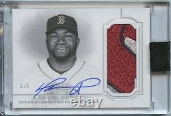2020 Topps Dynasty David Ortiz GAME USED Logo Patch Auto 1/5 Boston Red Sox