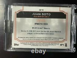 2020 Topps Dynasty Juan Soto #3/5 Jackie Robinson Day Game Used Patch Auto
