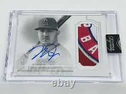 2020 Topps Dynasty Mike Trout Autograph Patch 5/5 Angels Game Used Patch Logo