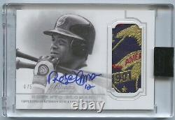 2020 Topps Dynasty Roberto Alomar Game Used LOGO Patch Auto /5 Cleveland Indians