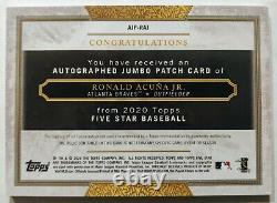 2020 Topps Five Star Ronald Acuna Jr /15 Patch Auto Game Used Braves