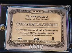 2020 Topps Sterling YADIER MOLINA Bat barrel 1/1 Game-Used Nameplate Cardinals