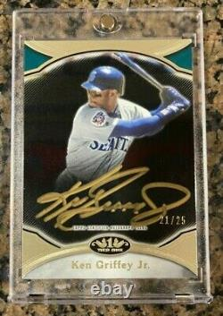 2020 Topps Tier One KEN GRIFFEY JR GOLD ON CARD AUTOGRAPH # /25 AUTO